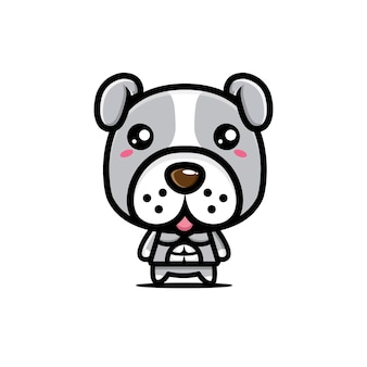 Simpatico design del personaggio del bulldog
