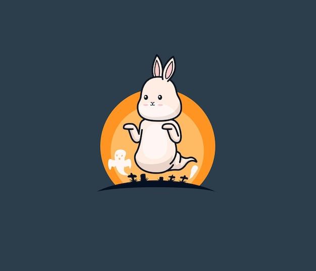 Simpatico coniglietto diventa fantasma