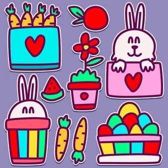 Simpatico coniglietto doodle design