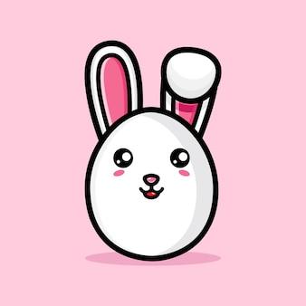 Simpatico coniglietto con uova decorative felice giorno di pasqua