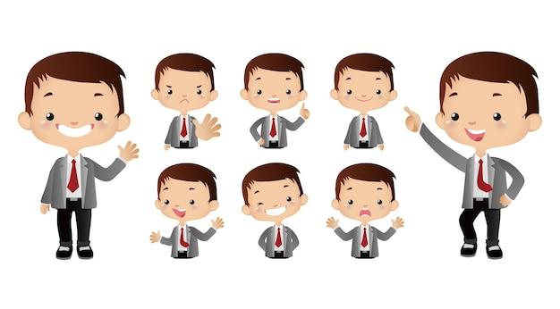 Set di persone d'affari carino