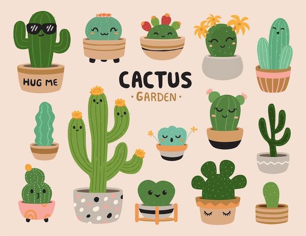 Clipart carino cactus