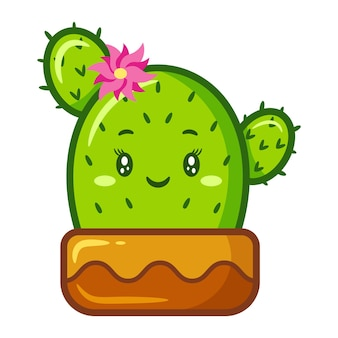 Simpatico adesivo con disegno di cactus