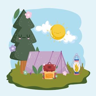 Simpatica avventura in campeggio