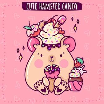Simpatico criceto di caramelle