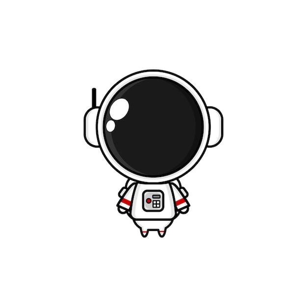 Simpatico cartone animato astronauta kawai