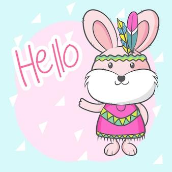 Cute cartoon bunny girl
