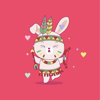 Illustrazione del coniglietto sveglio del fumetto
