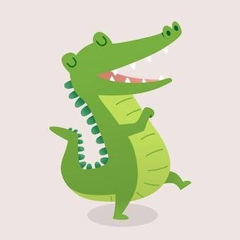 Simpatico cartone animato coccodrillo.
