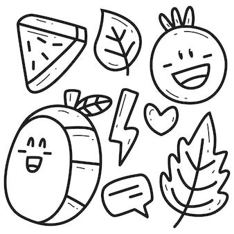 Simpatico cartone animato doodle da colorare disegnato a mano