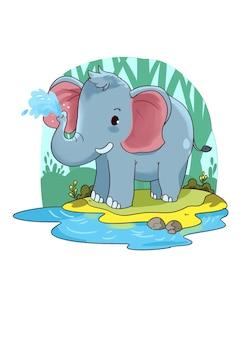 Elefante sveglio del fumetto