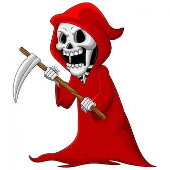 Grim reaper sveglio del fumetto con la falce