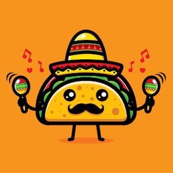 Tacos simpatico cartone animato
