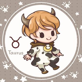 Toro simpatico cartone animato