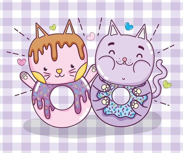Cartone animato carino gatto