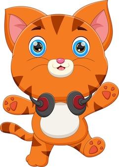 Simpatico cartone animato gatto cat
