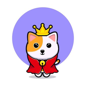Mascotte del fumetto del re del gatto sveglio