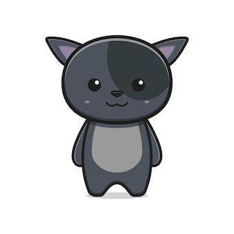 Illustrazione di vettore dell'icona del fumetto della mascotte del gatto sveglio. design piatto isolato in stile cartone animato isolated