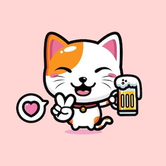 Simpatico gatto mascotte