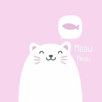 Simpatico gatto di tag regalo quadrato