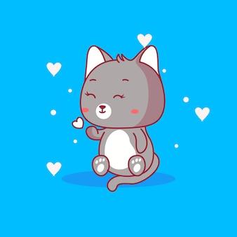 Illustrazione vettoriale di gatto carino