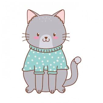 Simpatico personaggio dei boschi di gatto