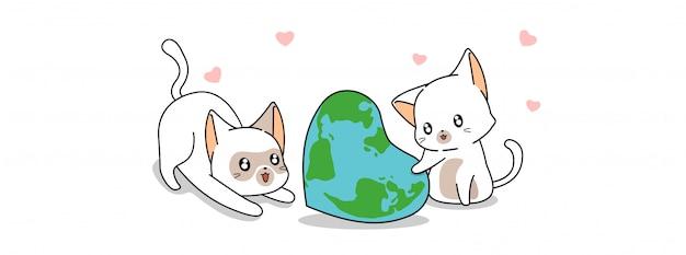 I gatti carini stanno proteggendo il mondo