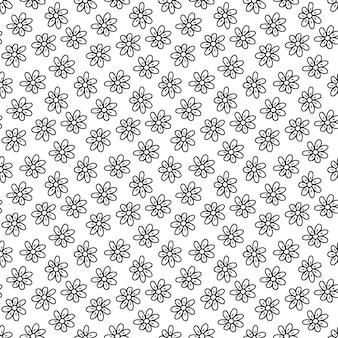 Sfondo carino camomilla. motivo floreale senza soluzione di continuità. campione di tessuto con fiorellini