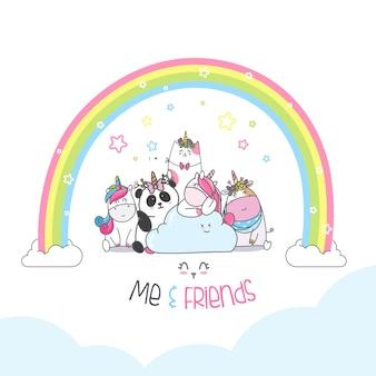 Cartone animato animale simpatico personaggio