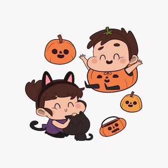 Partito di halloween del carattere sveglio