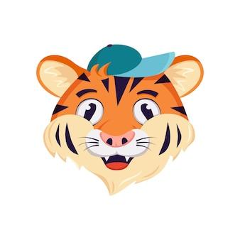 Simpatico personaggio tigre allegro