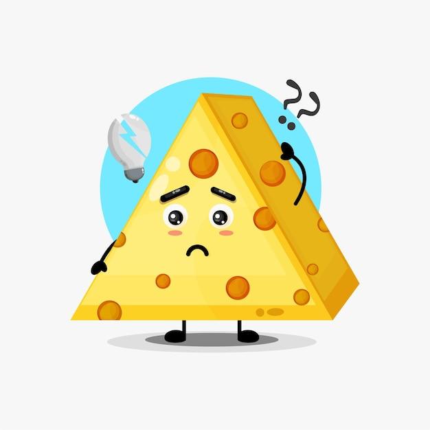 Simpatico personaggio di formaggio confuso