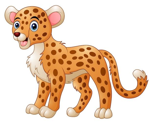 Simpatico cartone animato di ghepardo