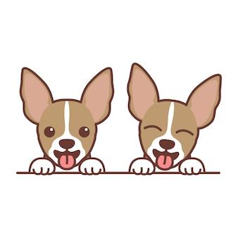 Cartone animato carino cucciolo di chihuahua, illustrazione vettoriale