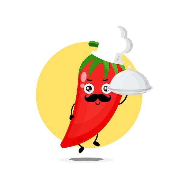 Simpatici personaggi di peperoncino diventano chef