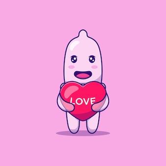 Palloncino amore carino abbraccio preservativo