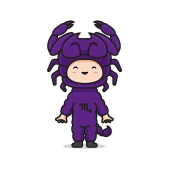 Simpatico costume zodiaco scorpione