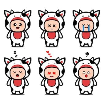 Simpatico personaggio dei cartoni animati di mucca costume