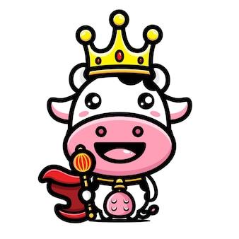 Simpatico personaggio del re della mucca