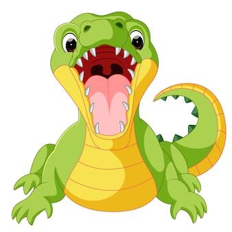 Cartone animato carino coccodrillo