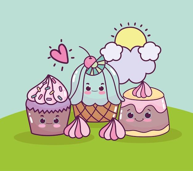 Gelatina di cupcake carina