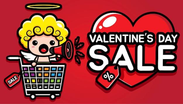 Carino cupido promo buona vendita di san valentino