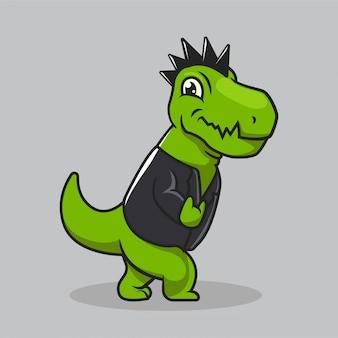 Simpatico design mascotte della cultura urbana di dino t rex