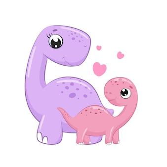 Illustrazione sveglia del fumetto di clipart del dinosauro