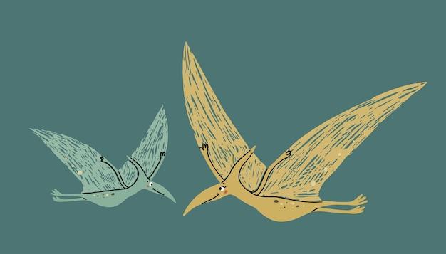 Dinosauri carino mamma e bambino era preistorica illustrazione per bambini