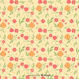 Simpatico sfondo floreale ditsy Vettore Premium
