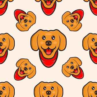 Disegno del modello del fumetto del cane sveglio