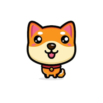 Disegno del personaggio di un cane carino