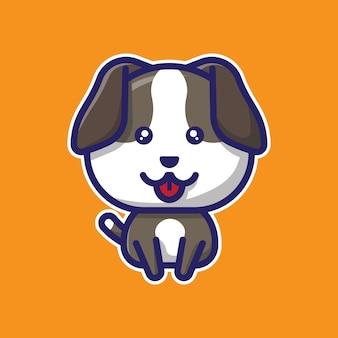 Simpatico personaggio chibi cane