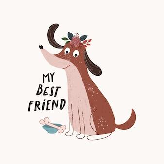 Illustrazione del cane carino